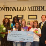 Montevallo Middle School Community Grant Check Presentation